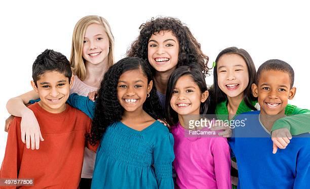Elementary Children Standing Together