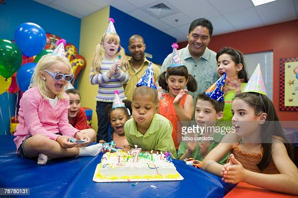 Elementary School Class Celebrating a Birthday