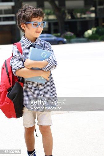 Elementary school student : Stock Photo