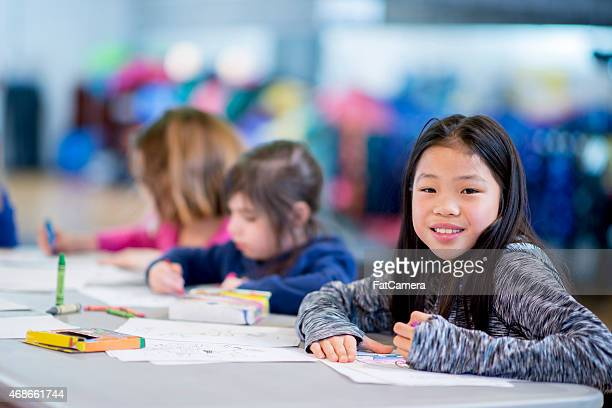 Elementary School Students Drawing