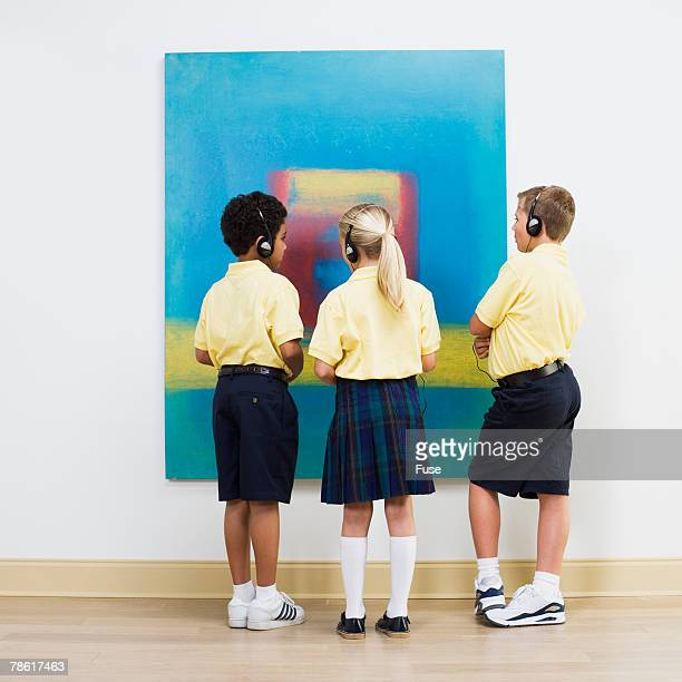 Elementary Students in Art Gallery