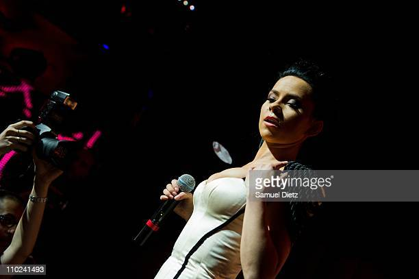 Elena Alexandra Apostoleanu performs live at VIP Room Theatre on March 15 2011 in Paris France