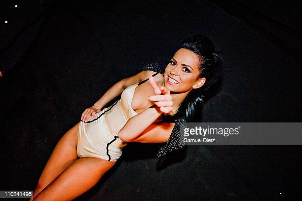 Elena Alexandra Apostoleanu poses at VIP Room Theatre on March 15 2011 in Paris France