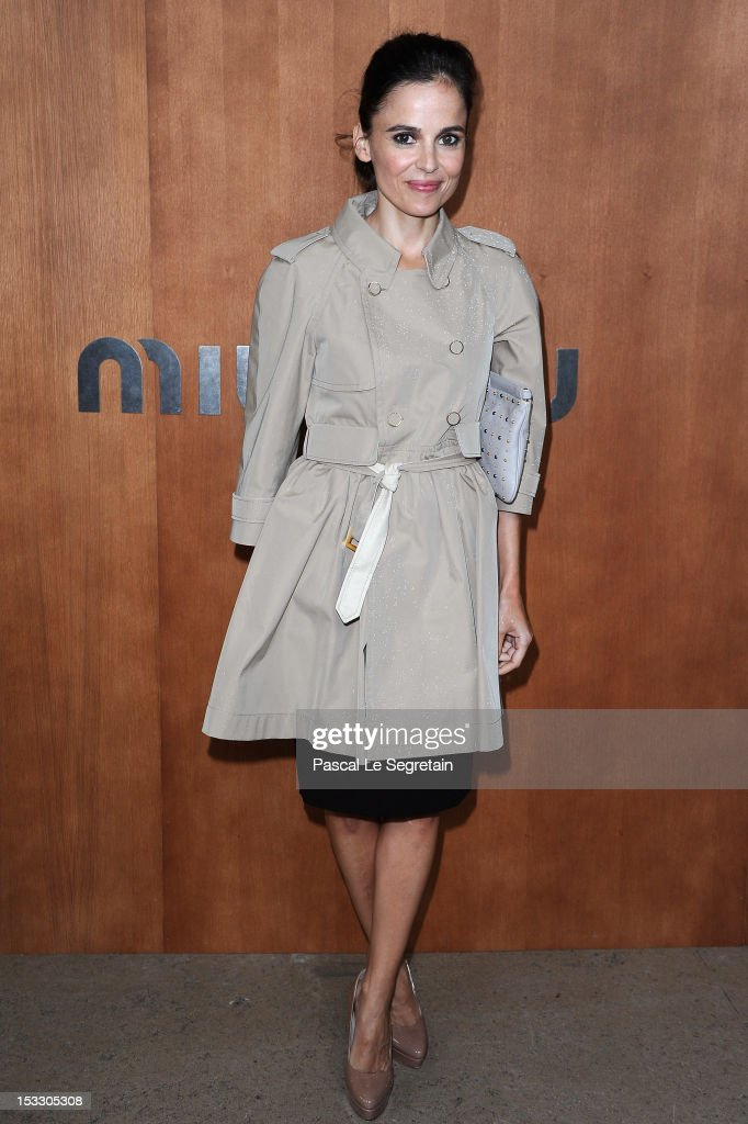 Elena Anaya attends the Miu Miu Spring/Summer 2013 show as part of Paris Fashion Week on October 3, 2012 in Paris, France.