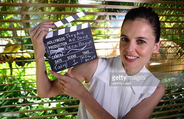 Elena Anaya poses during the 2015 Miami Dade College's Miami International Film Festival at The Standard Hotel Spa on March 9 2015 in Miami Beach...