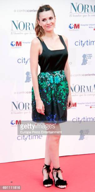 Elena Ballesteros attend the 'Norman The Moderate Rise and Tragic Fall of a New York Fixer' premiere at the Callao cinema on May 31 2017 in Madrid...