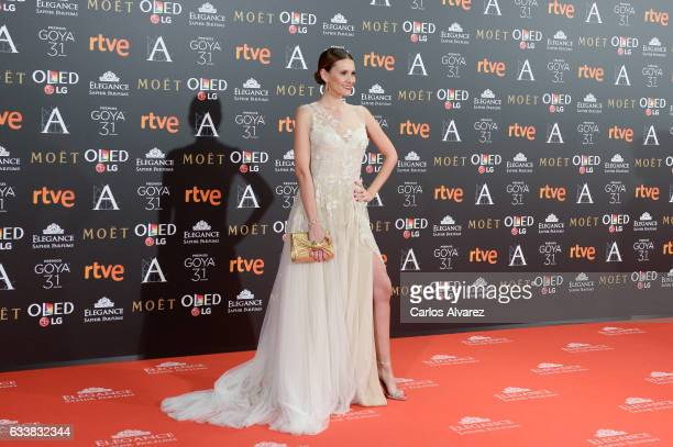 Elena Ballesteros attends Goya Cinema Awards 2017 at Madrid Marriott Auditorium on February 4 2017 in Madrid Spain