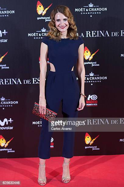 Elena Ballesteros attends 'La Reina de Espana' premiere at Callao City Lights on November 24 2016 in Madrid Spain