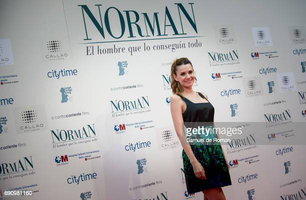 Elena Ballesteros attends 'Norman The Moderate Rise and Tragic Fall of a New York Fixer' Madrid Premiere on May 31 2017 in Madrid Spain