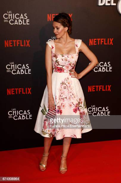 Elena Ballesteros attends the premiere of Netflix's 'Las Chicas del Cable' on April 27 2017 in Madrid Spain