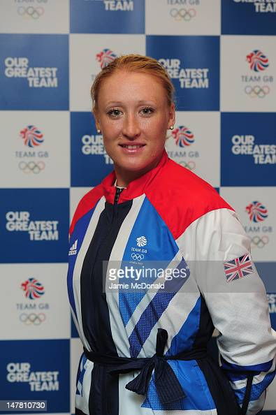 Elena Baltacha of Great Britain poses for a portrait during the Team GB kitting out event ahead of the London 2012 Olympic Games at Loughborough...