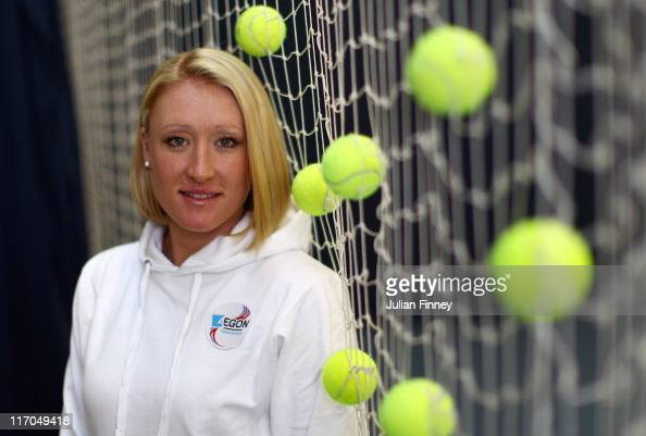 Elena Baltacha of Great Britain poses for the camera at the National Tennis Centre on November 29 2010 in Roehampton England