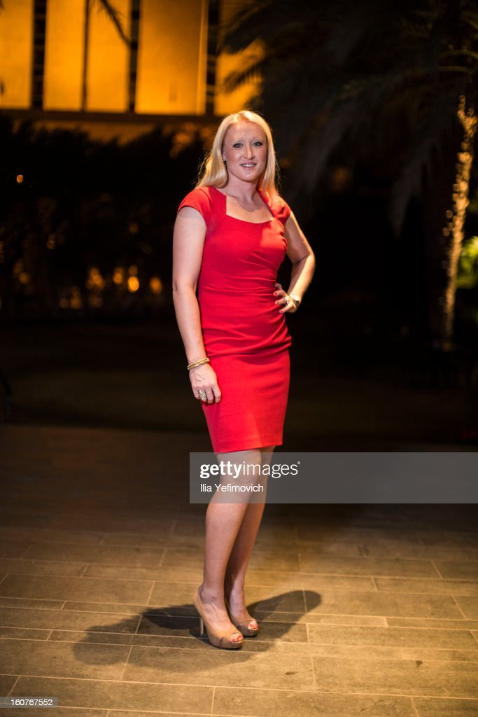 <a gi-track='captionPersonalityLinkClicked' href=/galleries/search?phrase=Elena+Baltacha&family=editorial&specificpeople=210830 ng-click='$event.stopPropagation()'>Elena Baltacha</a> of Great Britain posing for a picture before the official team dinner ahead of the Fed Cup Group B matches in the Euro/Africa Zone Group 1 at the Sport Hotel on February 5, 2013 in Eilat, Israel.