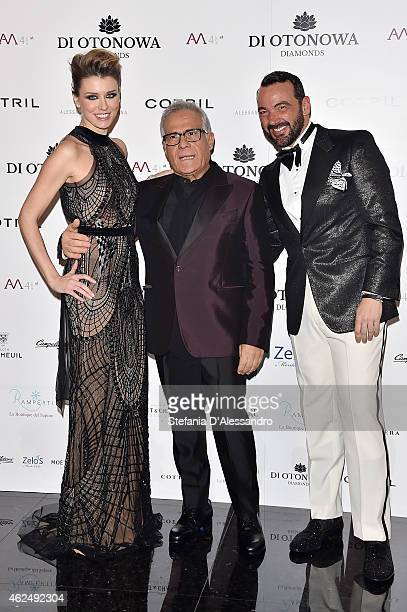 Elena Barolo Carlo Pignatelli and Alessandro Martorana attend Aessandro Martorana's Birthday Party on January 29 2015 in Milan Italy