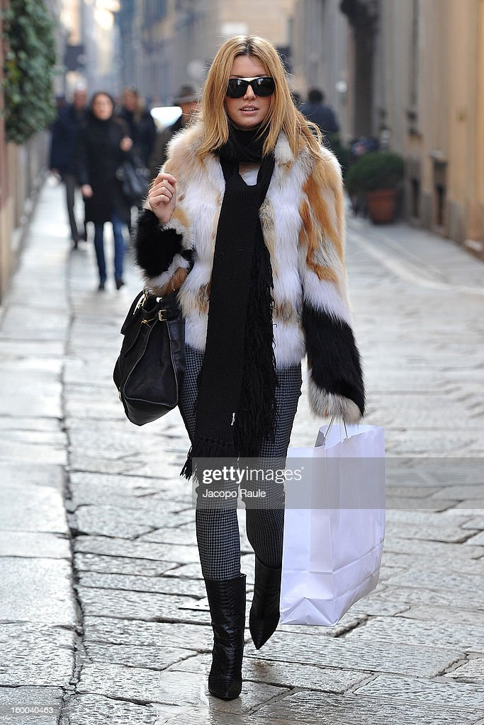 Elena Barolo is seen on January 25, 2013 in Milan, Italy.