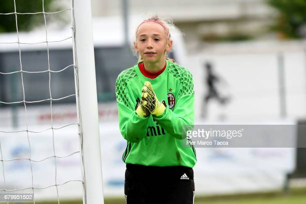 Elena Belli of AC Milan Women Under 12 looks during the match between AC Milan and SSV Brixen obi for Danone Nations Cup 2017 on May 7 2017 in Zevio...