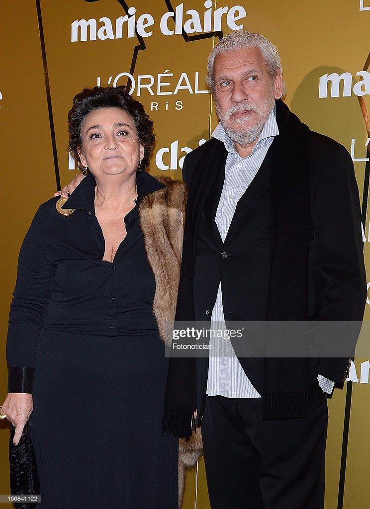 Elena Benarroch and Adolfo Barnatan attend 'Marie Claire Prix de la Mode 2012' ceremony at the French Ambassadors Residence on November 22 2012 in...