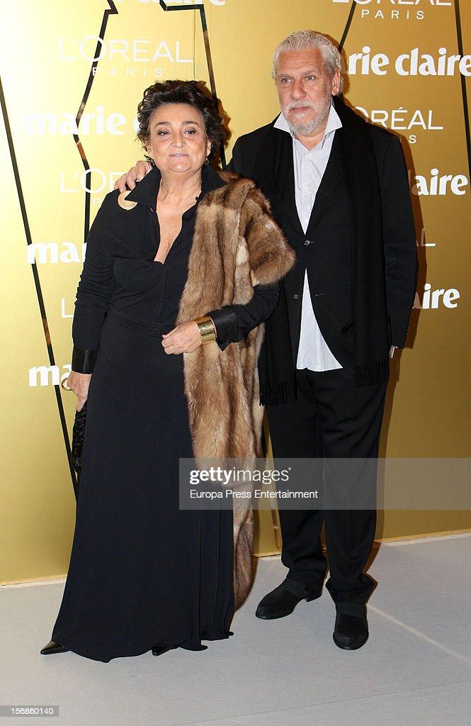 Elena Benarroch and Adolfo Barnatan attend Marie Claire Prix de la Moda Awards 2012 on November 22 2012 in Madrid Spain