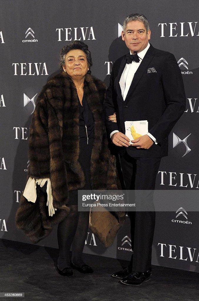 Elena Benarroch and Boris Izaguirre attend 2013 Telva Fashion Awards on December 2 2013 in Madrid Spain