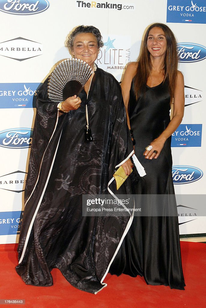Elena Benarroch and guest attend the 4rd annual Starlite Charity Gala on August 10 2013 in Marbella Spain