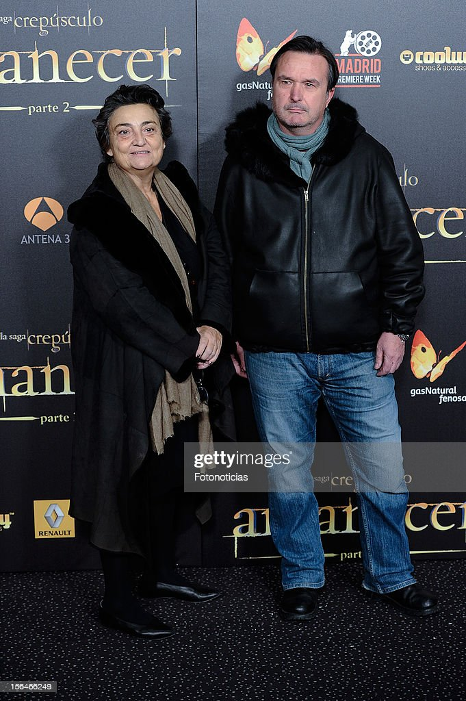 Elena Benarroch and guest attend the premiere of 'The Twilight Saga Breaking Dawn Part 2' at kinepolis Cinema on November 15 2012 in Madrid Spain