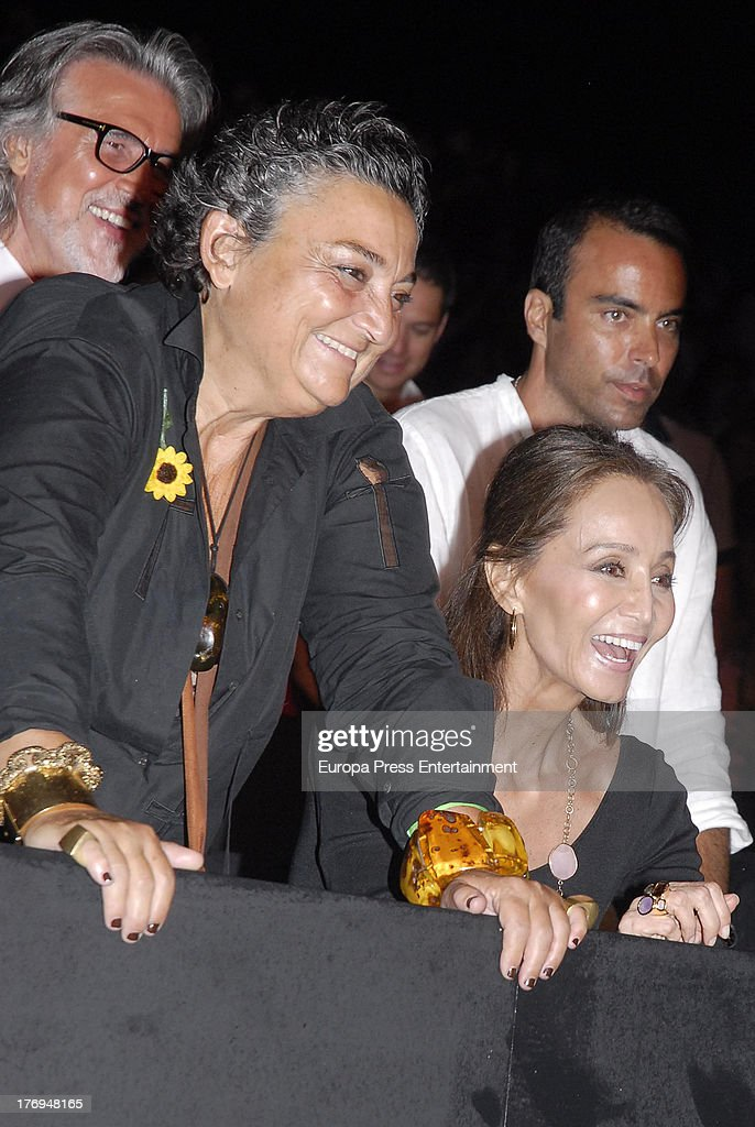 Elena Benarroch and Isabel Preysler mother of singer Enrique Iglesias attend his concert during Starlite Gala Festival on August 17 2013 in Marbella...