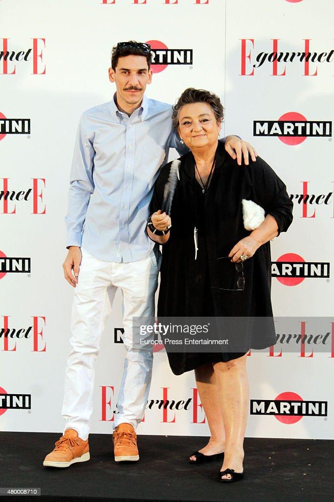 Elena Benarroch and Jaime barnatan attend Elle Gourmet Awards 2015 on July 6 2015 in Madrid Spain