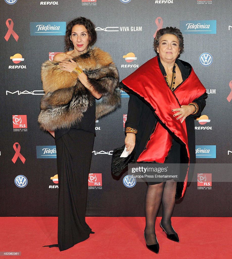Elena Benarroch and Yael Barnatan attend the '4th Annual Gala Sida Barcelona 2013' Museo Nacional de Arte de Cataluna on November 25 2013 in...