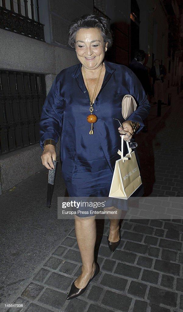 Elena Benarroch attends a dinner in honour of designer Michael Kors on May 24 2012 in Madrid Spain