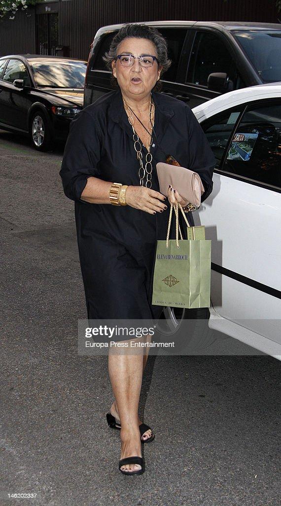 Elena Benarroch attends the 43th birthday of Spanish model Mar Flores on June 11 2012 in Madrid Spain
