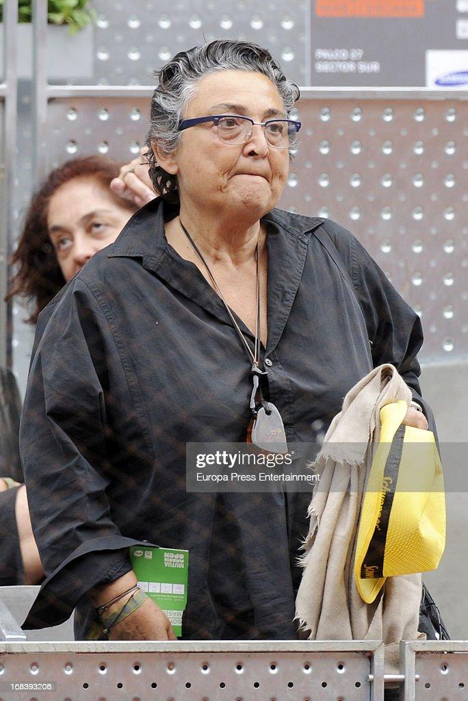 Elena Benarroch attends the Mutua Madrid Open tennis tournament at La Caja Magica on May 8 2013 in Madrid Spain