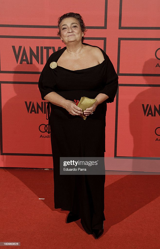 Elena Benarroch attends Vanity Fair 5th anniversary party photocall at Santa Coloma palace on October 10 2013 in Madrid Spain