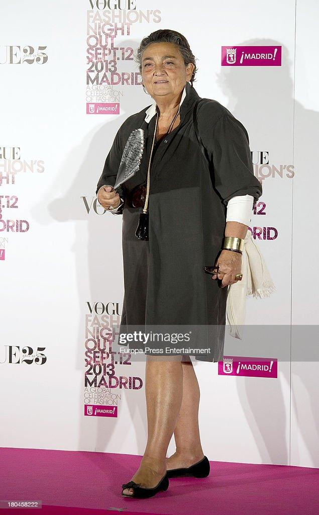 Elena Benarroch attends Vogue Fashion Night Out Madrid 2013 on September 12 2013 in Madrid Spain