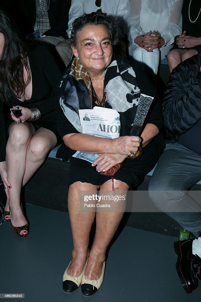 Elena Benarroch is seen attending the MercedesBenz Fashion Week Madrid Spring/Summer 2016 at Ifema on September 20 2015 in Madrid Spain