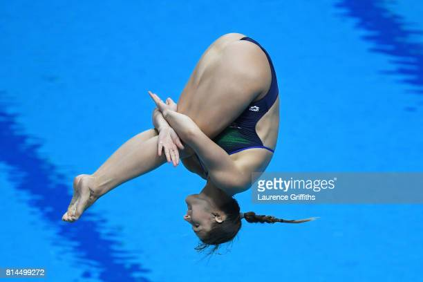 Elena Bertocchi of Italy competes during the Womens 1M Springboard Diving preliminary round on day one of the Budapest 2017 FINA World Championships...