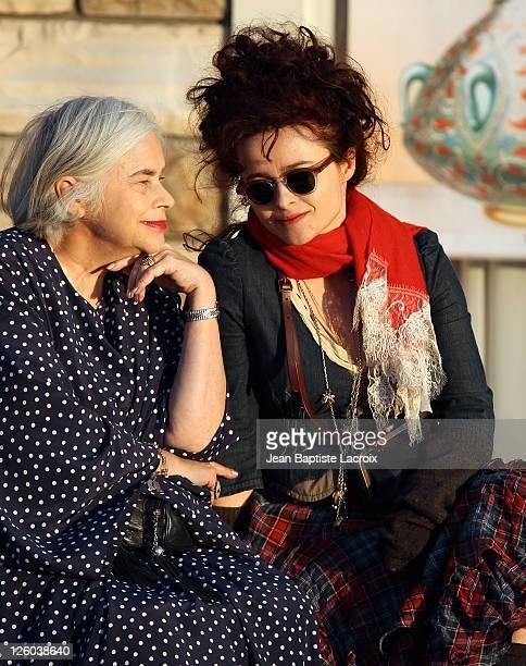 Elena Bonham Carter and Helena Bonham Carter are seen shopping at the Grove on February 24 2011 in Los Angeles California
