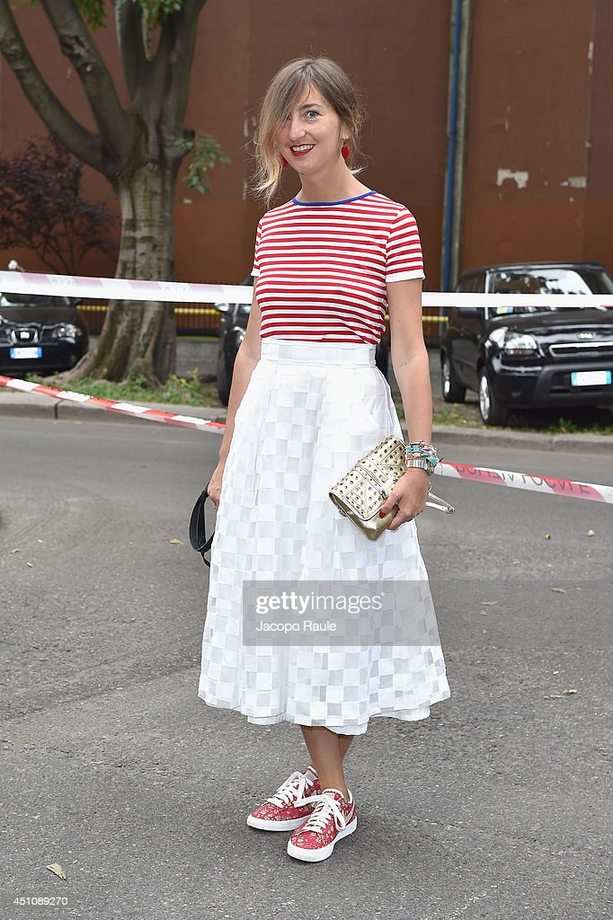 Elena Braghieri attends the Emporio Armani show during Milan Menswear Fashion Week Spring Summer 2015 on June 23, 2014 in Milan, Italy.