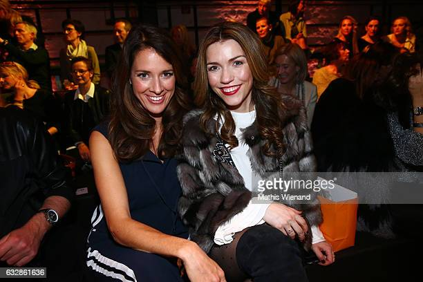 Elena Bruhn and Annett Moeller attend the Breuninger show during Platform Fashion January 2017 at Areal Boehler on January 27 2017 in Duesseldorf...