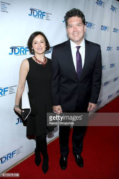 Elena Buckley and KTLA coanchor Frank Buckley attend JDRF LA's IMAGINE Gala to benefit type 1 diabetes research at The Beverly Hilton on April 22...