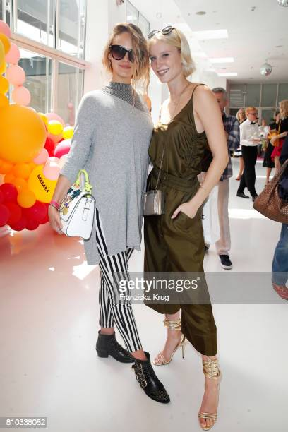 Elena Carriere and Kim Hnizdo attend the Gala Fashion Brunch during the MercedesBenz Fashion Week Berlin Spring/Summer 2018 at Ellington Hotel on...