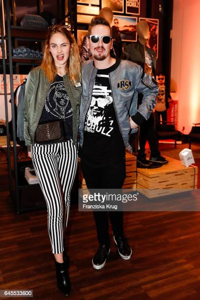 Elena Carriere and Robin Schulz attend the 'Robin Schulz The Movie' world premiere at Cinemaxx on February 24 2017 in Hamburg Germany