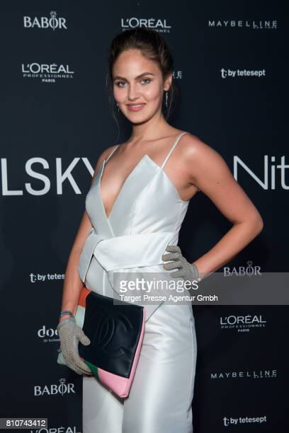 Elena Carriere attends the MICHALSKY StyleNite during the MercedesBenz Fashion Week Berlin Spring/Summer 2018 at eWerk on July 7 2017 in Berlin...