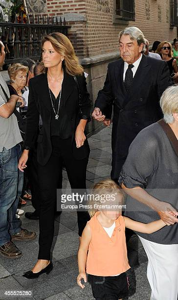 Elena Cue and Alberto Cortina attend attends the funeral for Isidoro Alvarez president of El Corte Ingles who died at 79 aged on September 15 2014 in...