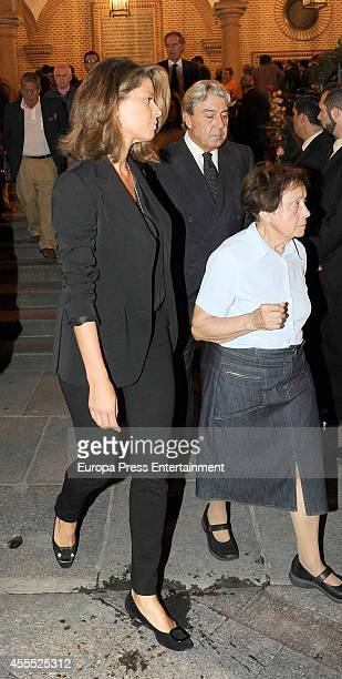 Elena Cue and Alberto Cortina attend the funeral for Isidoro Alvarez president of El Corte Ingles who died at 79 aged on September 15 2014 in Madrid...