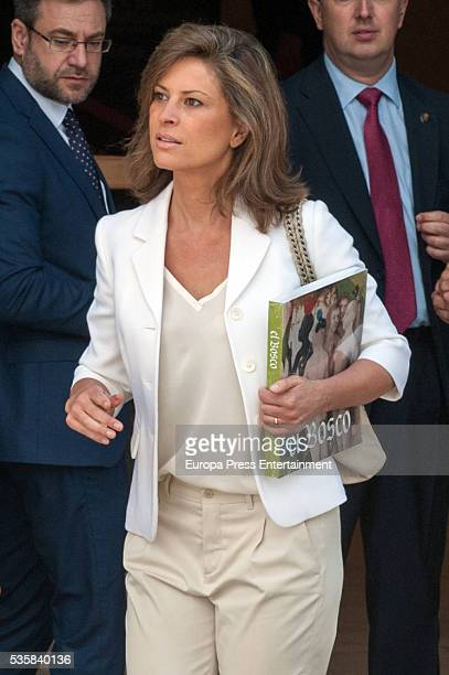 Elena Cue attends the opening of the painting exhibition 'The Bosch' at El Prado Museum on May 30 2016 in Madrid Spain