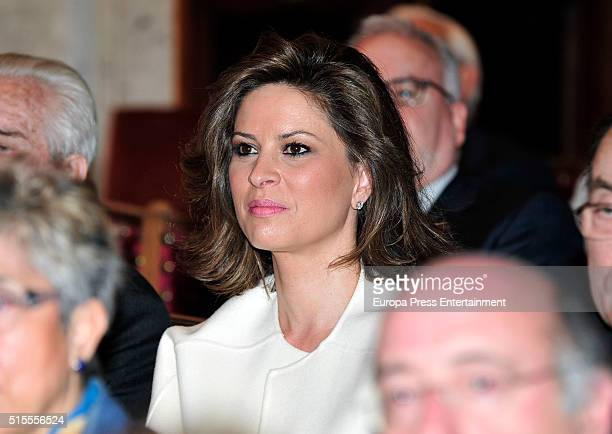 Elena Cue attends the Royal Academy of Language ceremony income for Spanish author Luis de Azua on March 13 2016 in Madrid Spain