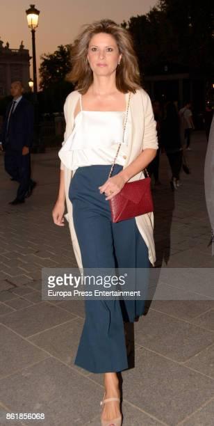 Elena Cue is seen arriving at Opera on October 11 2017 in Madrid Spain
