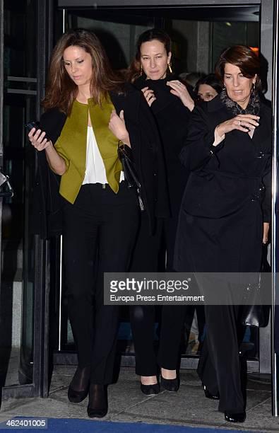 Elena Cue is seen leaving opera 'Tristan and Isolde' by Richard Warner on January 12 2014 in Madrid Spain