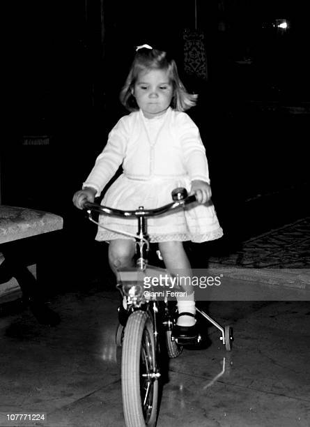 Elena daughter of the princes Juan Carlos of Borbon and Sofia of Greece celebrate Christmas 1967 at the Zarzuela Palace Madrid Spain