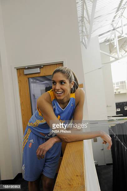 Elena Delle Donne of the Chicago Sky during the 2013 Chicago Sky Media Day on May 09 2013 at the Sachs Recreation Center in Deerfield Illinois NOTE...